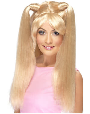 Blond paruka s culíčky