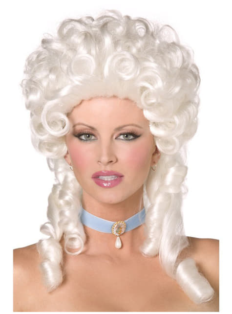 Baroque White Wig with Ringlets