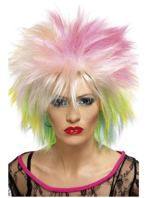 '80 Πολύχρωμα περούκα για τις γυναίκες