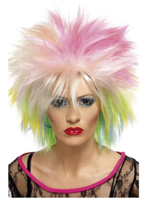 Шарена дамска перука от 80-те