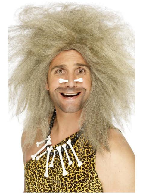 Сумасшедший блондин пещерный человек парик