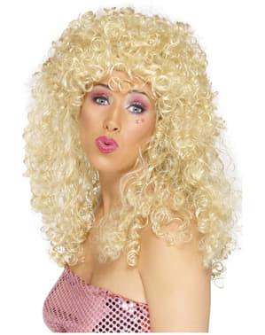 Perruque aux boucles blonde