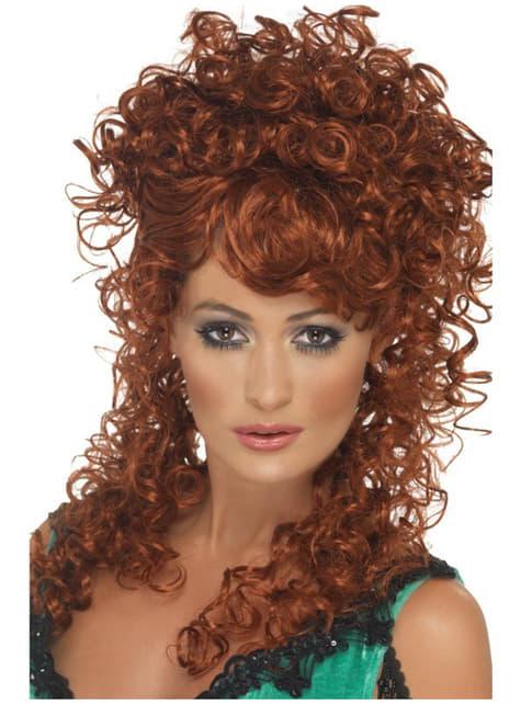 Къдрава салон Перфектна кафява перука