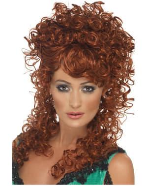 Кудрява коричнева перука із салону