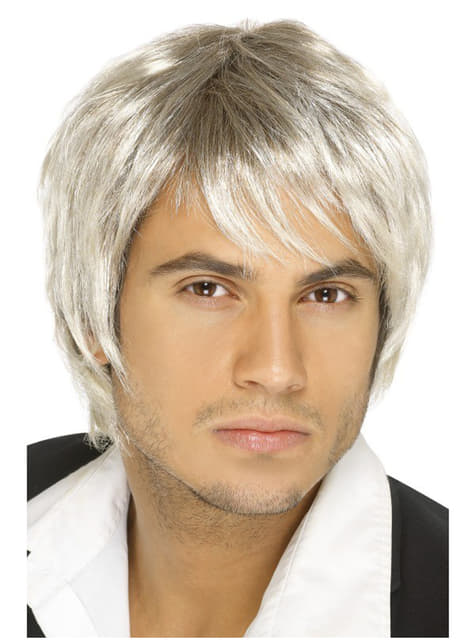 Grey 80s Style Wig for Men