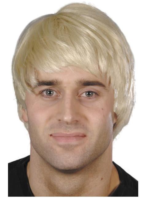 Short Blonde Men's Wig