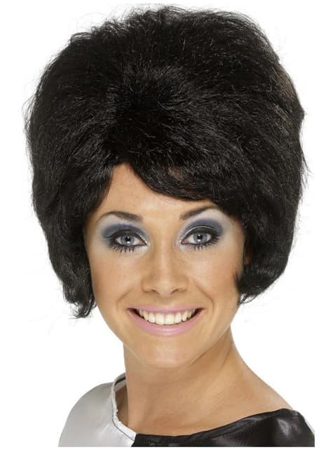 Parrucca alveare nera degli anni 60