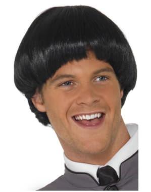 Perruque noire coupe au bol