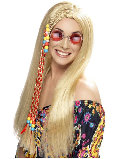 Parrucca hippie bionda
