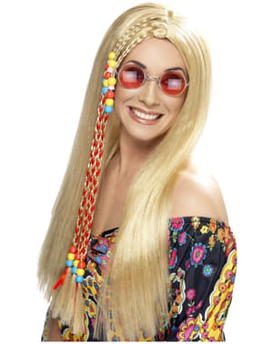 Peluca de hippie rubia