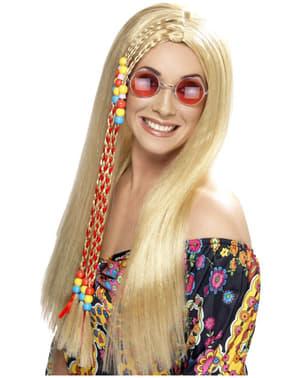 Perucă de hippie blondă