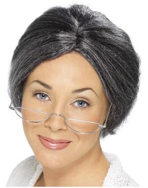Γιαγιά Wig με κουλούρι