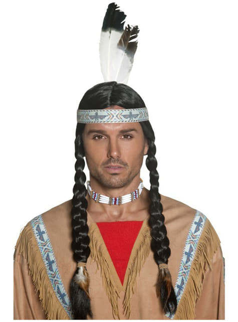 Perucă indian nativ