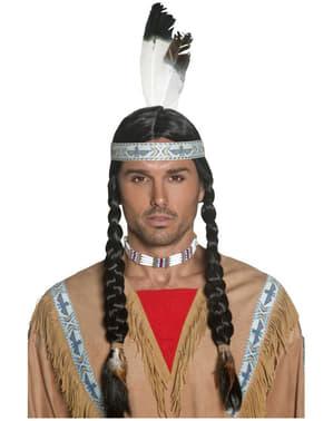 Περούκα Ινδιάνος Ιθαγενής
