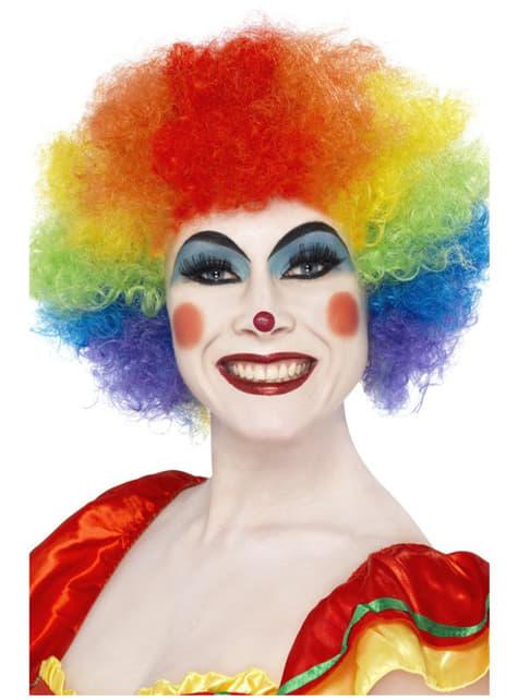 Gekke Clown Pruik Regenboog