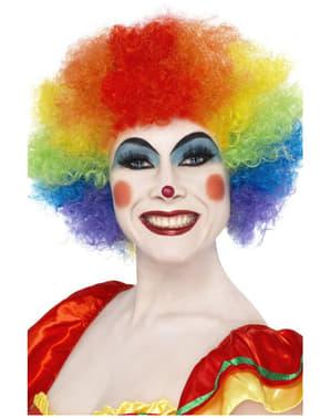 Peruca de palhaço louco arco-íris
