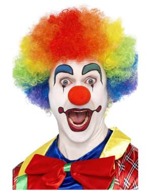 Peruka szalony klaun tęczowa