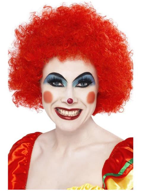 Galen Clown Peruk Röd
