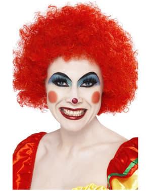 Perruque de clown fou rouge