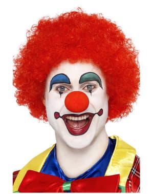 Parrucca pagliaccio pazzo rossa