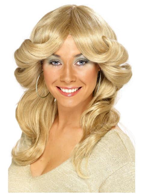 70s Movie Blonde Wig