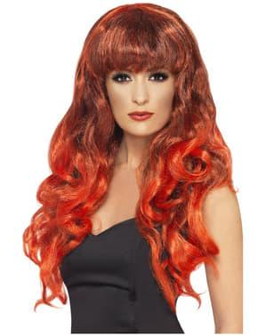 Parrucca sirena rossa e mora