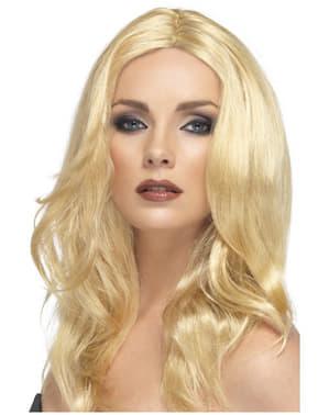 Perucă blondă platinată pentru femei