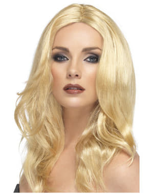 Blond platina Peruk för henne