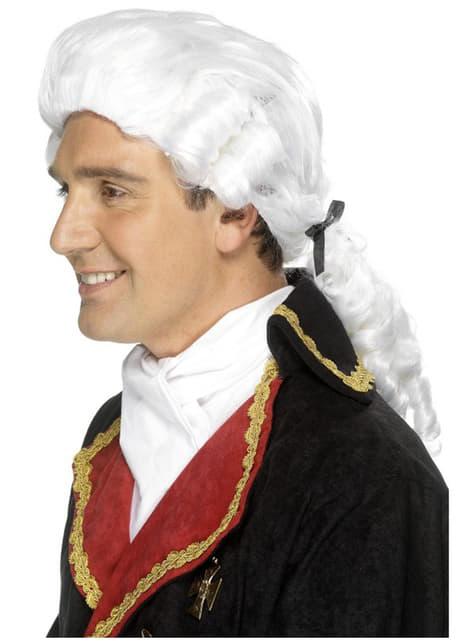 Бяла мъжка барокова перука