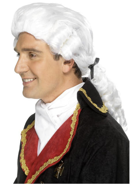White Baroque Wig for Men