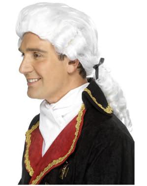 Biała Peruka Barok dla mężczyzn