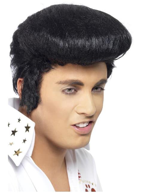 Parrucca ciuffo Elvis deluxe