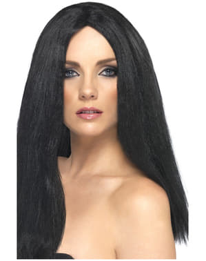 Elegancka czarna peruka