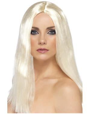 Parrucca elegante bionda