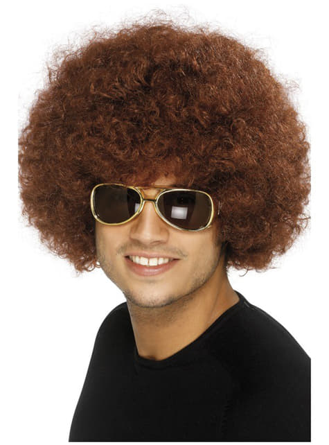 Funky Brown Afro περούκα