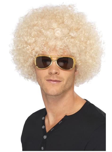 Peluca funky afro rubia - para tu disfraz