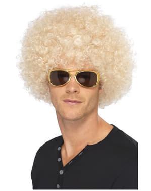 Funky Afro Pruik Blond