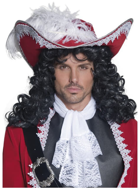 Sombrero Capitán pirata rojo