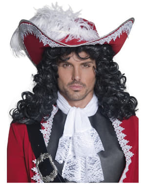 Chapeau de Capitaine pirate rouge
