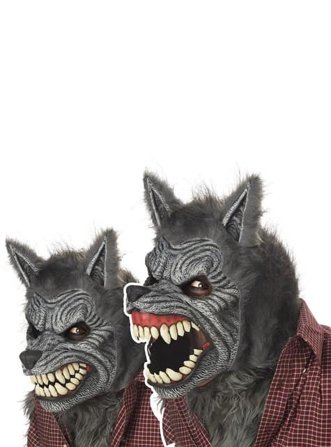 Masker weerwolf deluxe bewegende mond