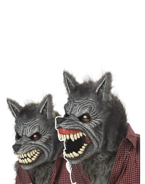 Maska wilkołak animowany Deluxe