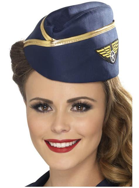 Sombrero de azafata del aire