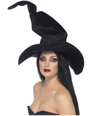 Chapeau de sorcière haut et ondulé