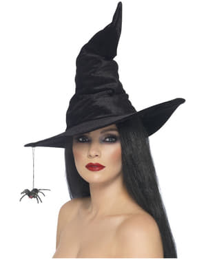 Crna vještica šešir sa paukom