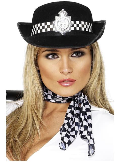 Sombrero de mujer policía