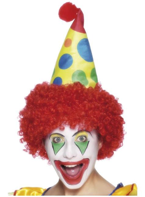 Clownhatt med peruk