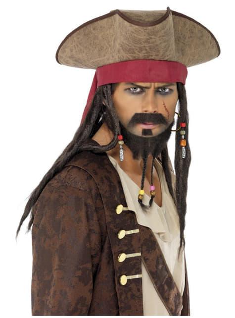 Chapéu de pirata castanha