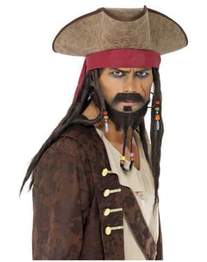 Cappello pirata con capelli rasta