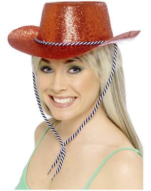 Chapéu de cowboy vermelho