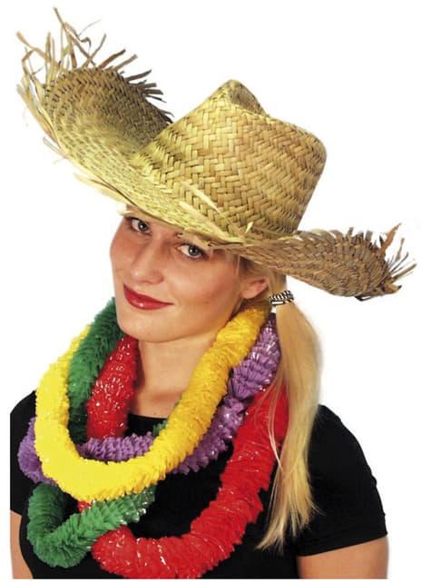 Chapeau hawaïen en paille